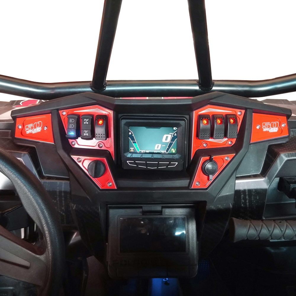 Cnc Dash Panel Plate New Havasu Red For Polaris Gps