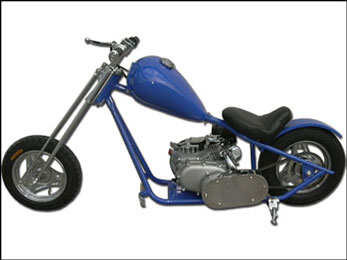 198cc Mini Chopper by SkaterX - Blue