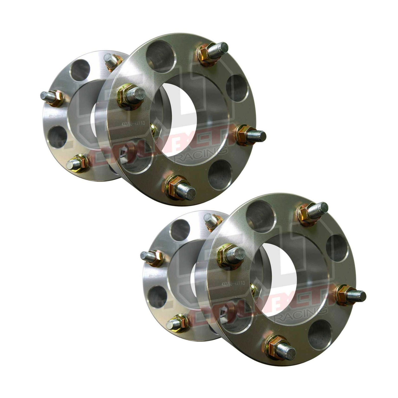 "Four 1/"" 4x110 Wheel Spacer 4 x 110 10mm x 1.25mm 10x1.25 Lug studs for ATV /& UTV"