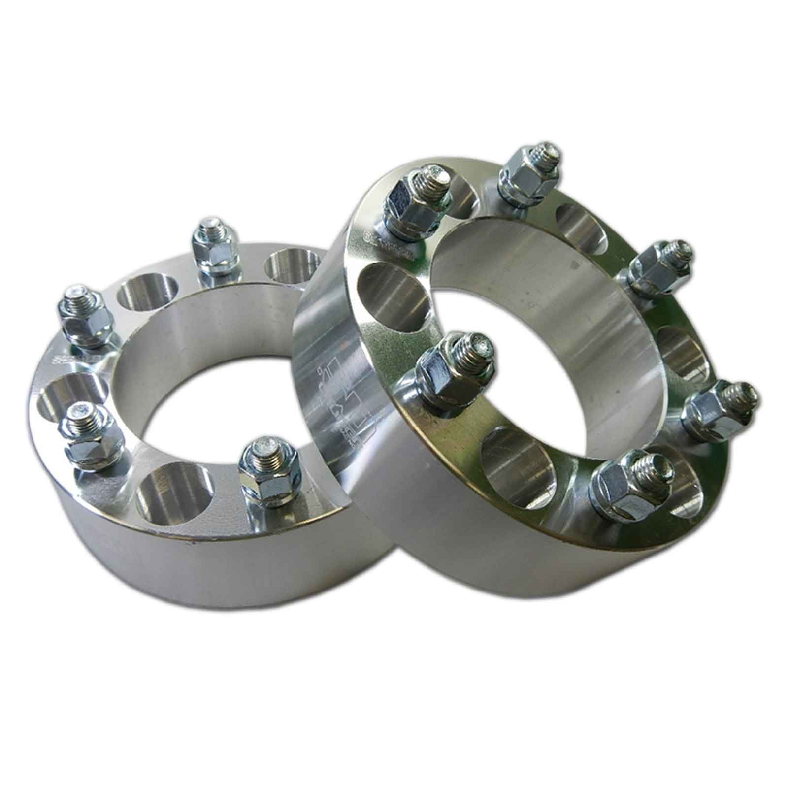 "Pair 6x5.5 139.7 Wheel Spacers 2"" Thick 12mm Lug Fit"