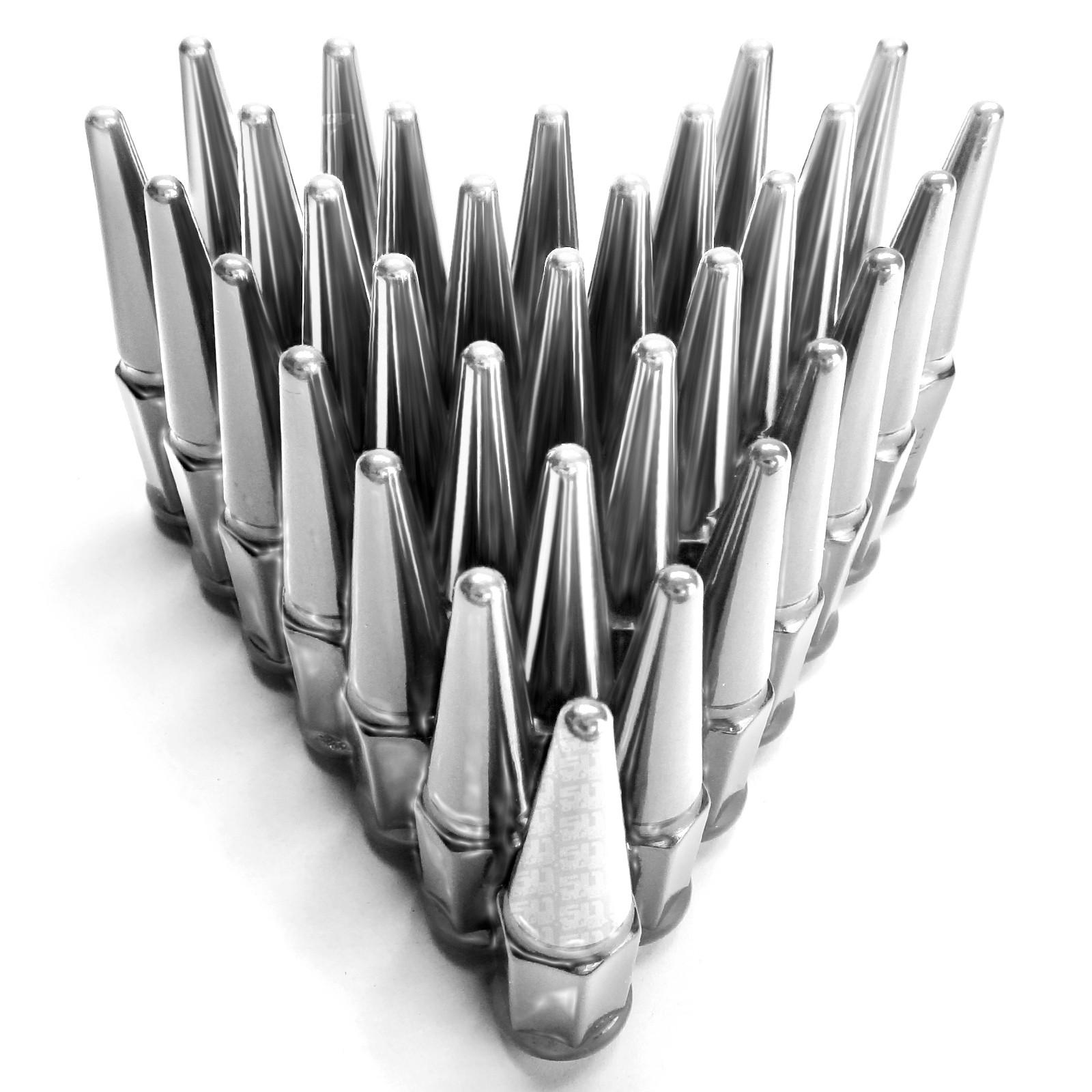 Spike Lug Nuts 14x2 0 Coarse Thread Fit F250 F350 Super Duty Powerstroke Chrome