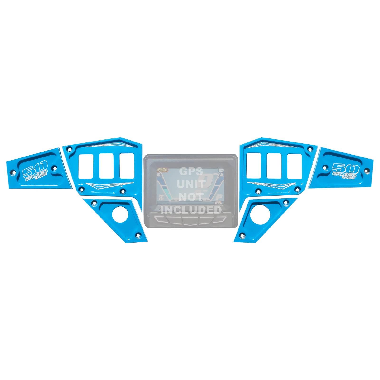 Rocker Switch Dash Panel Plates Custom for Polaris RZR XP 1000 Blue