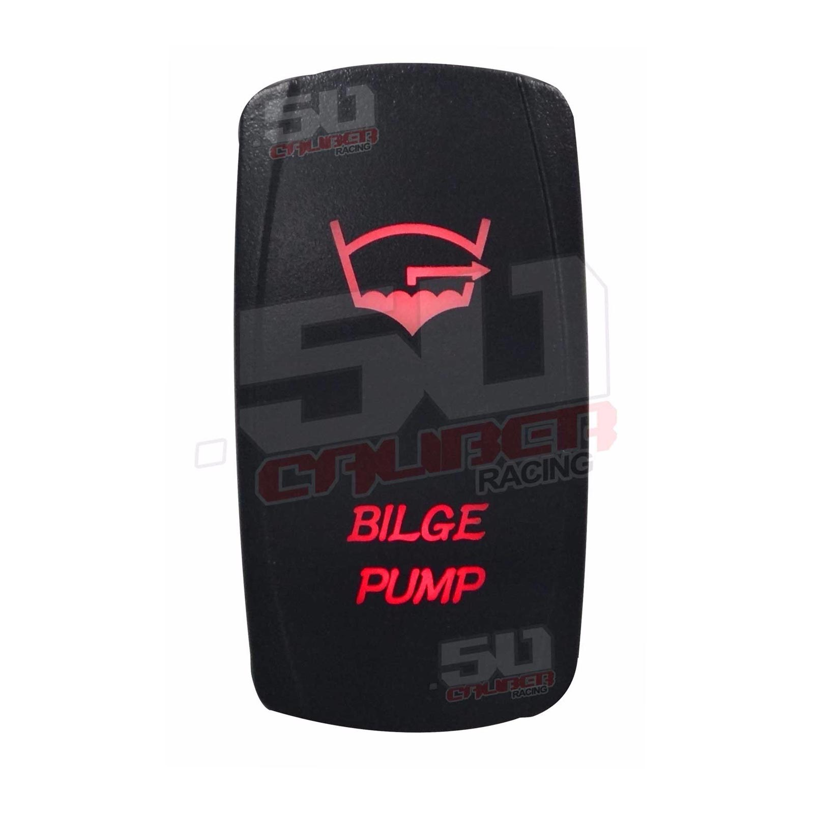 Led Illuminated Rocker Switch Bilge Pump Utv Rzr Teryx Maverick X3 Lighted Red 50 Caliber Racing On Off Waterproof 20 Amp 12 Volt Custom
