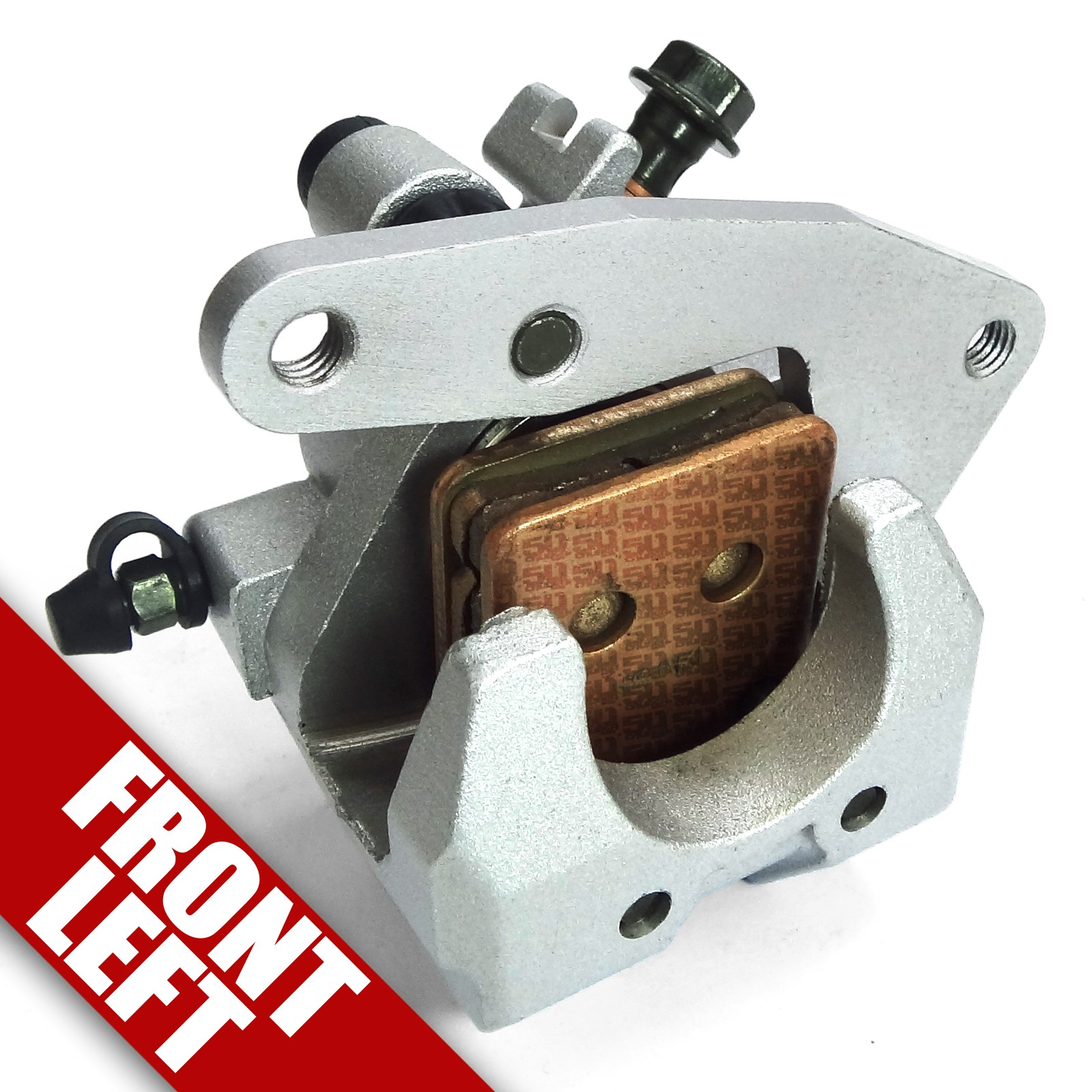 Front Left Brake Caliper with Pads fits 2007-2009 Yamaha Grizzly YFM 450