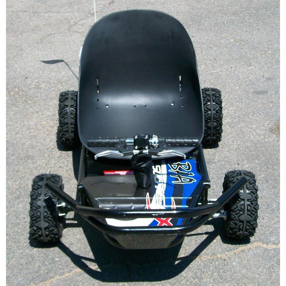 49cc Gas powered GO KART Off Road cart ScooterX Baja Black Blue mini ...
